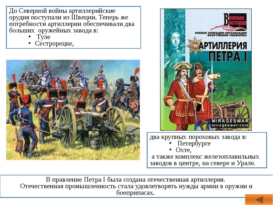 два крупных пороховых завода в: Петербурге Охте, а также комплекс железоплави...