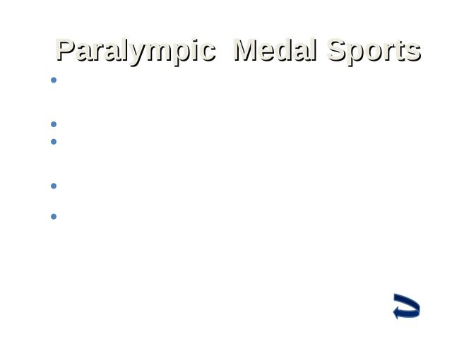 Paralympic Medal Sports Track events at the Summer Paralympics include the 10...