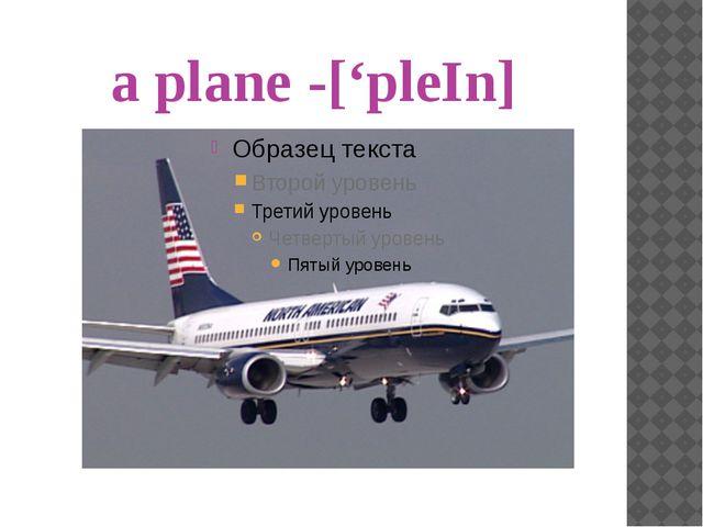 a ship- ['∫ıp]