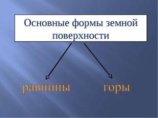 Основные формы земной поверхности