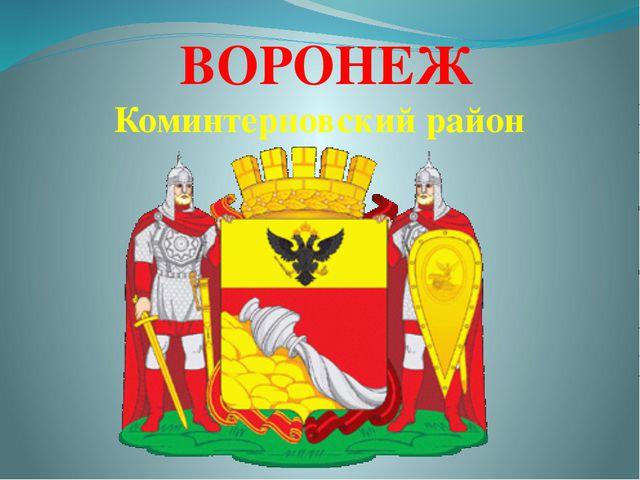 ВОРОНЕЖ Коминтерновский район