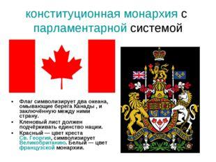 конституционная монархия с парламентарной системой Флаг символизирует два оке
