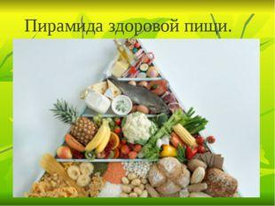 Пирамида здоровой пищи.