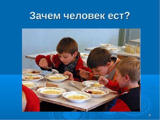 * Зачем человек ест?