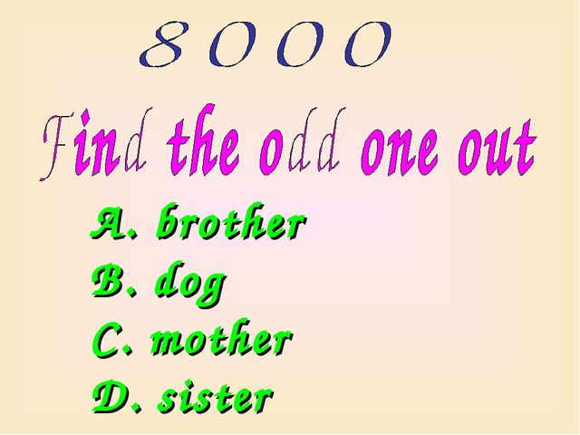 A. brother B. dog C. mother D. sister