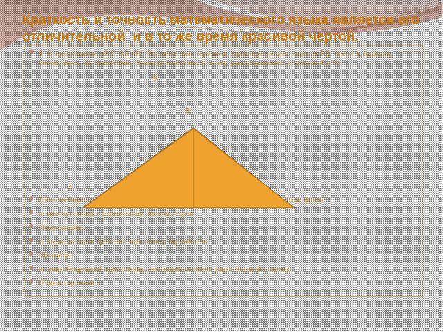Краткость и точность математического языка является его отличительной и в то...