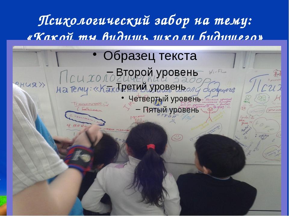Психологический забор на тему: «Какой ты видишь школу будущего» Free Powerpoi...