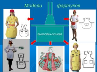 Модели фартуков ВЫКРОЙКА-ОСНОВА