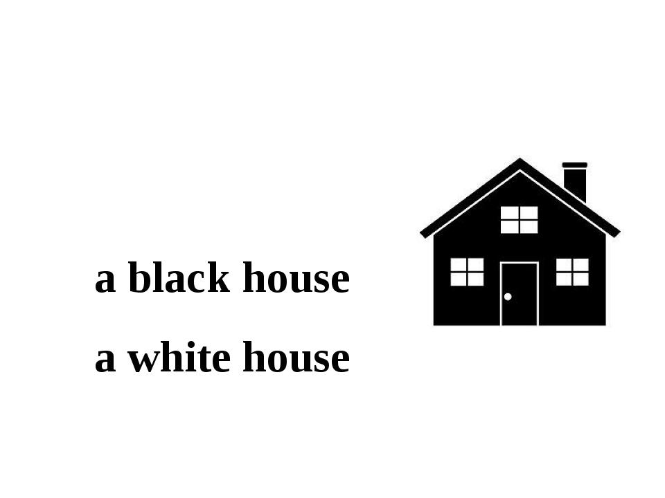 a black house a white house