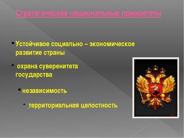 охрана суверенитета государства независимость территориальная целостность Ус...