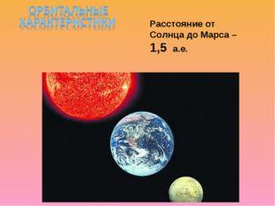 Расстояние от Солнца до Марса – 1,5 а.е.
