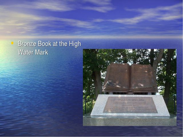 Bronze Book at the High Water Mark