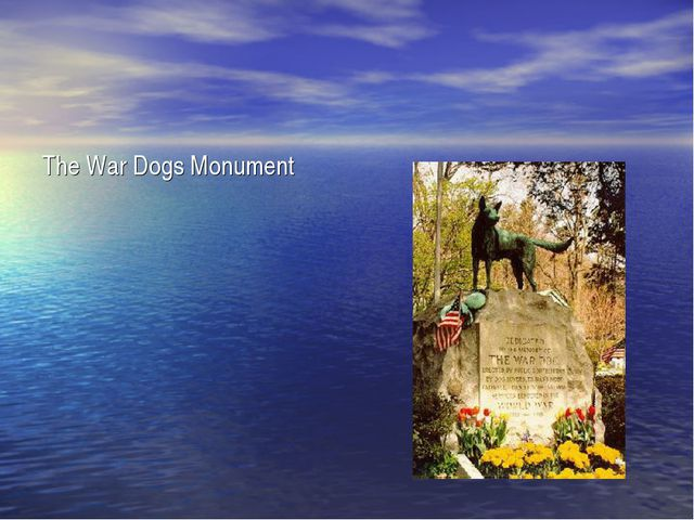 The War Dogs Monument