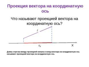 Проекция вектора на координатную ось Что называют проекцией вектора на коорди