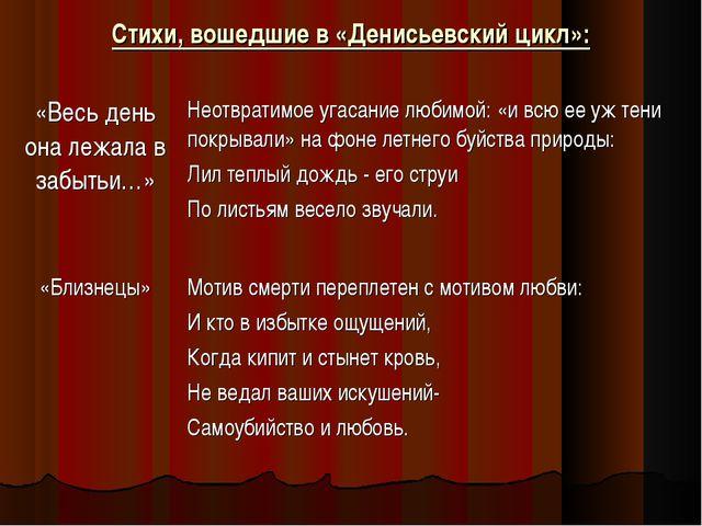 Стихи, вошедшие в «Денисьевский цикл»: «Весь день она лежала в забытьи…»Неот...