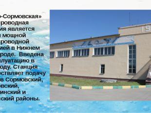 «Ново-Сормовская» водопроводная станция является самой мощной водопроводной с