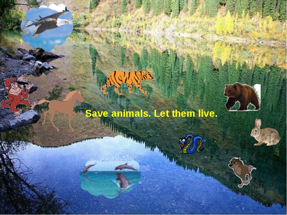 * Save animals. Let them live. Лето
