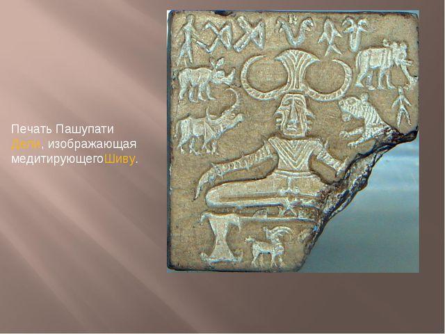 Печать Пашупати Дели, изображающая медитирующегоШиву.
