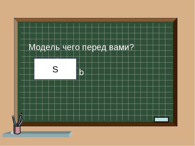 Модель чего перед вами? a b S