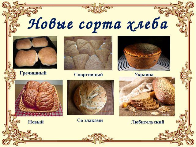 Гречишный Спортивный Украина Любительский Со злаками Новый Новые сорта хлеба