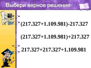 (217.327+1.109.981)-217.327 (217.327+1.109.981)+217.327 217.327+217.327+1.109