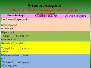 Ашық тұқымды өсімдіктердің салыстырмалы ерекшеліктері Уйге тапсырма: Негізгіб