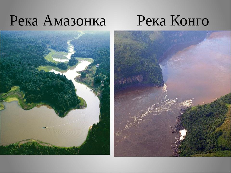 Река Амазонка Река Конго