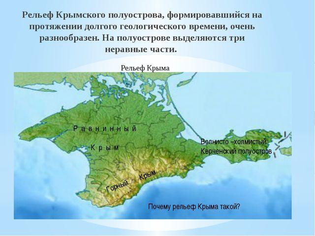 Рельеф Крымского полуострова, формировавшийся на протяжении долгого геологиче...