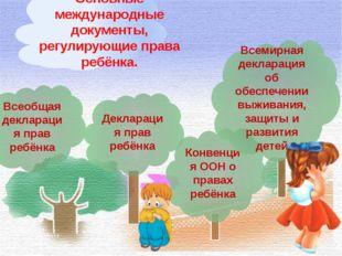 Всеобщая декларация прав ребёнка Декларация прав ребёнка Конвенция ООН о прав