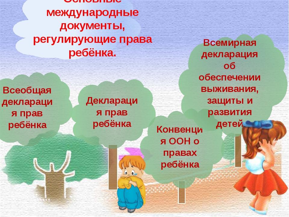 Всеобщая декларация прав ребёнка Декларация прав ребёнка Конвенция ООН о прав...