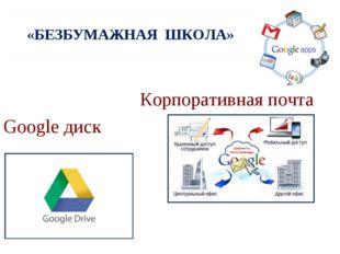 «БЕЗБУМАЖНАЯ ШКОЛА» Корпоративная почта Google диск