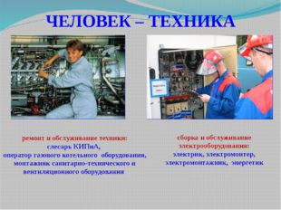 ЧЕЛОВЕК – ТЕХНИКА сборка и обслуживание электрооборудования: электрик, электр