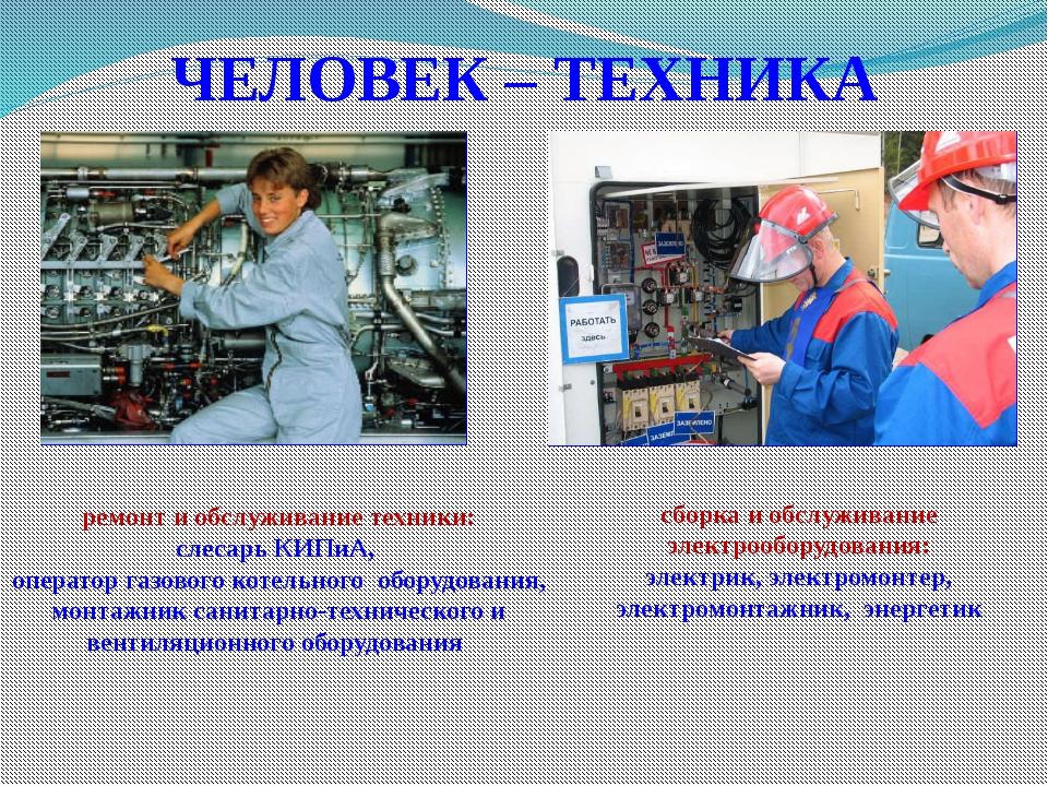 ЧЕЛОВЕК – ТЕХНИКА сборка и обслуживание электрооборудования: электрик, электр...