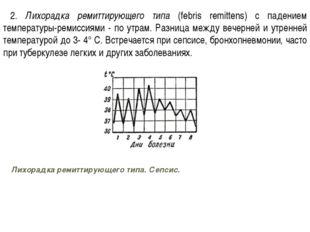 2. Лихорадка ремиттирующего типа (febris remittens) с падением температуры-ре