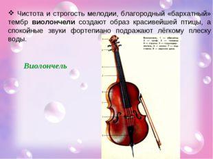 Чистота и строгость мелодии, благородный «бархатный» тембр виолончели создаю