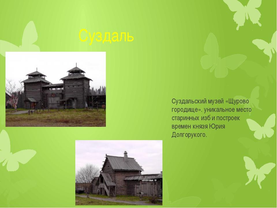 Суздаль Суздальский музей «Щурово городище». уникальное место старинных изб...