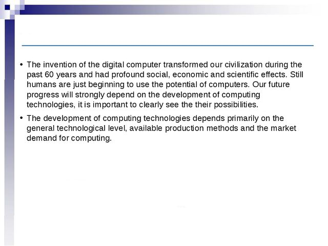 Introduction The invention of the digital computer transformed our civilizati...