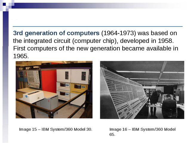 Computer History: Third-generation computers Image 15 – IBM System/360 Model...