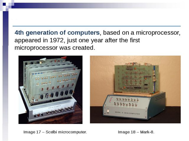 Computer History: Fourth-generation computers Image 17 – Scelbi microcomputer...