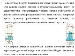 На восточных берегах Евразии такой климат имеет особые черты. Эти районы обыч