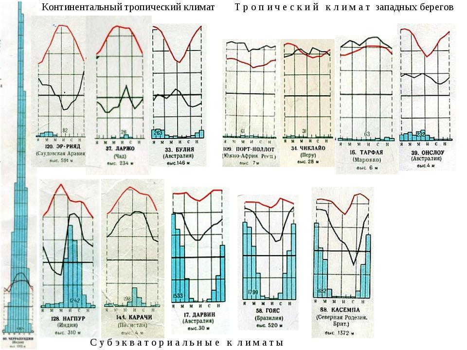 Континентальный тропический климат С у б э к в а т о р и а л ь н ы е к л и м...