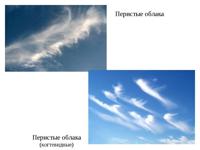 Перистые облака Перистые облака (когтевидные)