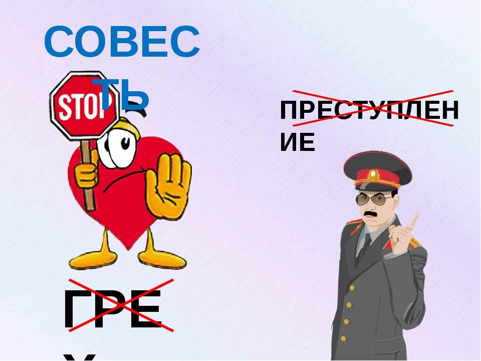 ГРЕХ ПРЕСТУПЛЕНИЕ СОВЕСТЬ Изображение с сайта: http://oldmedia.meta.ua/files/...