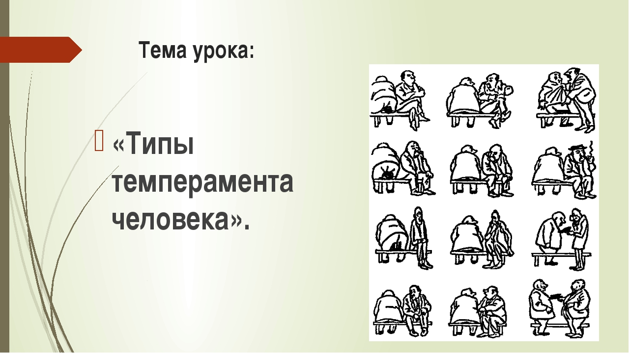 Тема урока: «Типы темперамента человека».