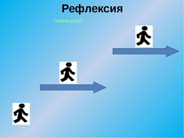 """Рефлексия """"Лесенка успеха"""""""