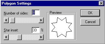 Задание параметров многоугольника