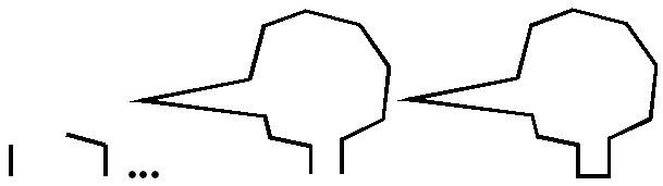 Последовательность построения многоугольниака произвольной формы