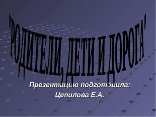 Презентацию подготовила: Цепилова Е.А.