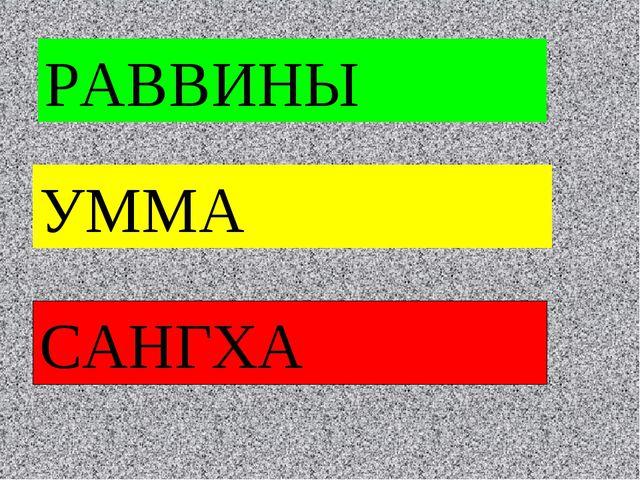РАВВИНЫ УММА САНГХА