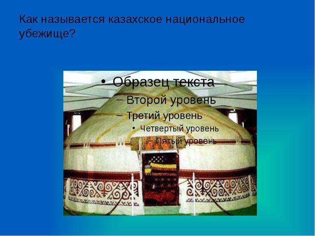 Как называется казахское национальное убежище?